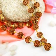 5 Mukhi Nepal Rudraksha Beads Mala in pure Go..