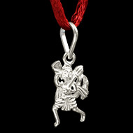 Hanuman locket in pure silver - Design IV