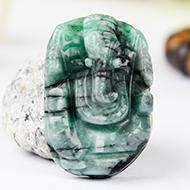 Emerald Ganesha - 19 Carats