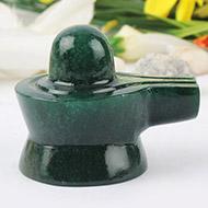 Green Jade Shivlinga - 105 gms