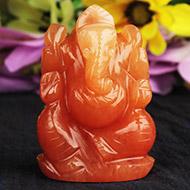 Red Jade Ganesha - 108 gms