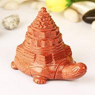 Sun Stone Shree Yantra on Tortoise