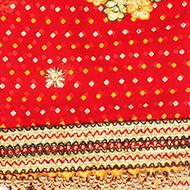 Flower Bandhani Mata Ki Chunri