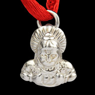 Hanuman locket in pure silver - Design VIII