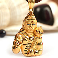 Hanuman locket in pure Gold - 4.64 gms