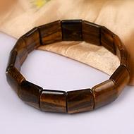 Tiger Eye Bracelet - Square Beads
