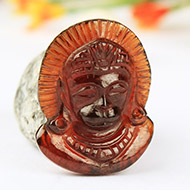 Hanuman in Gomed - 19.50 Carats