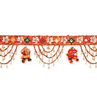Traditional Sea Shell Bandarwar with Mirror - Design V