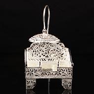 Deity Throne In German Silver