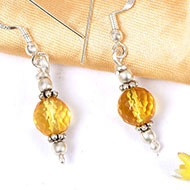 Citrine faceted bead Earring