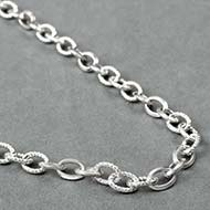 Silver twisted loop chain
