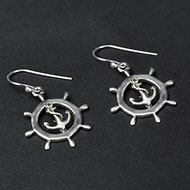 Earrings in pure silver - 4.35 gms