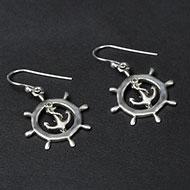 Earrings in pure silver - 4.35 gms