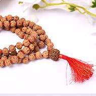 7 mukhi Mahalaxmi mala - 9 mm - Chikna beads