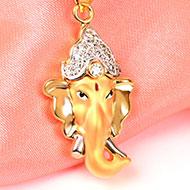 Ganesh Pendant in Gold - 3.15 gms