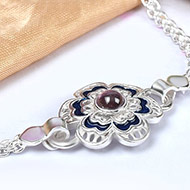 Pure silver Rakhi - Design I
