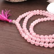 Pink Jade Round mala - 6mm
