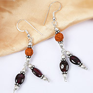 Bloom Garnet Earring