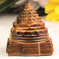 Shree Yantra in Tiger Eye Stone - 74 gms