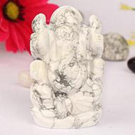 Howlite Ganesha - 94gm