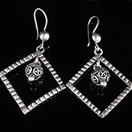 Earrings in Silver - Design XIV
