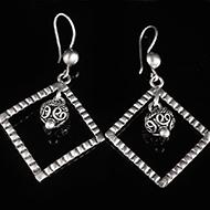 Earrings in Silver - Design XIV