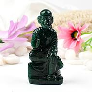 Sai Baba statue in Green Jade-139 gms