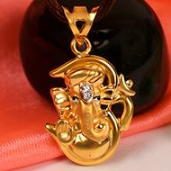 OM Ganesh Pendant in Gold - 1.96 gms