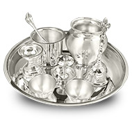 Royal Puja Thali in pure silver - Big