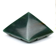 Multi Pyramid In Columbian Green Jade-Love and Harmony