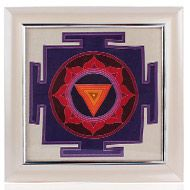 Mahakali Yantra on silk with frame