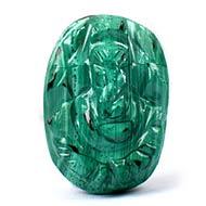 Malachite Ganesha-12.20 carat