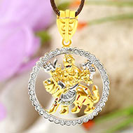 Durga Pendant in pure Gold - 5.6 gms