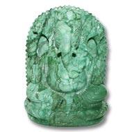 Ganesha in Budd Stone - 825 gms