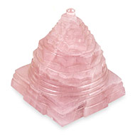 Rose Quartz  Shree Yantra - 235 gms
