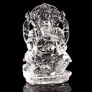 Ganesh Idol in pure quartz - 44 gms