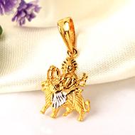 Durga Pendant in pure Gold - 3.23 gms