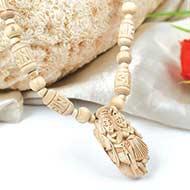 Designer Tulsi mala with Radha krishna pendant