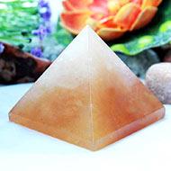Pyramid in Natural Yellow Jade - I