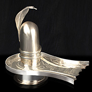Parad Shivling with silver Yoni base