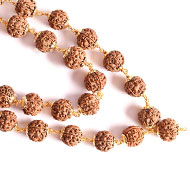 5 Mukhi Mala in copper gold polish