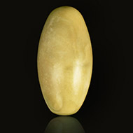White Narmada Lingam - 3 inches - I