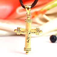 Cross locket in Pure Gold - 2.31 gms
