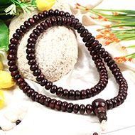 Rosewood mala - Elliptical beads