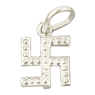 Swastik Locket in pure Silver - Design I