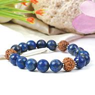 Lapis Lazuli and Rudraksha Bracelet - I