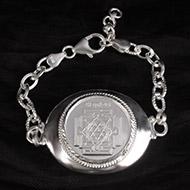 Durga Yantra Silver Bracelet