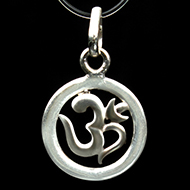 Om Locket in Pure Silver