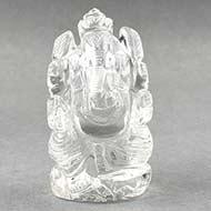 Ganesh Idol in pure quartz - 167 gms