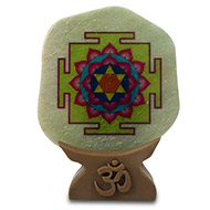 Shree Vishnu Yantra on Green Jade
